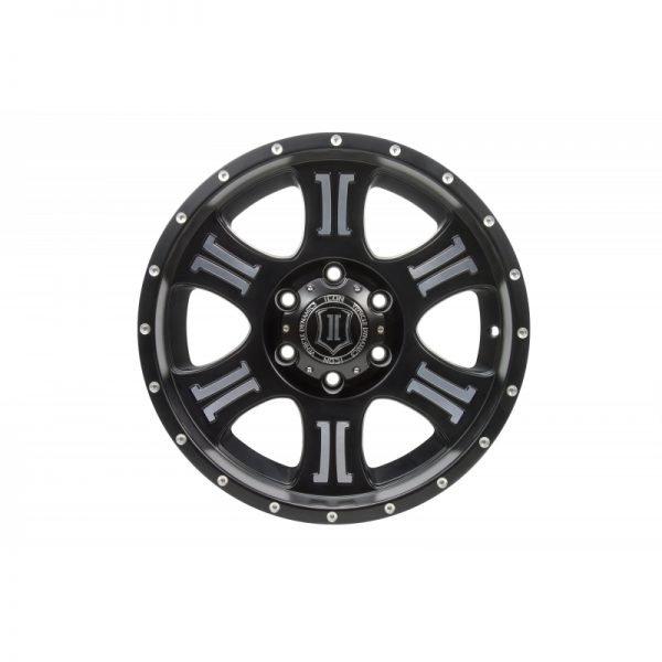 "ICON SHIELD 20"" Satin Black, Machined Finish"